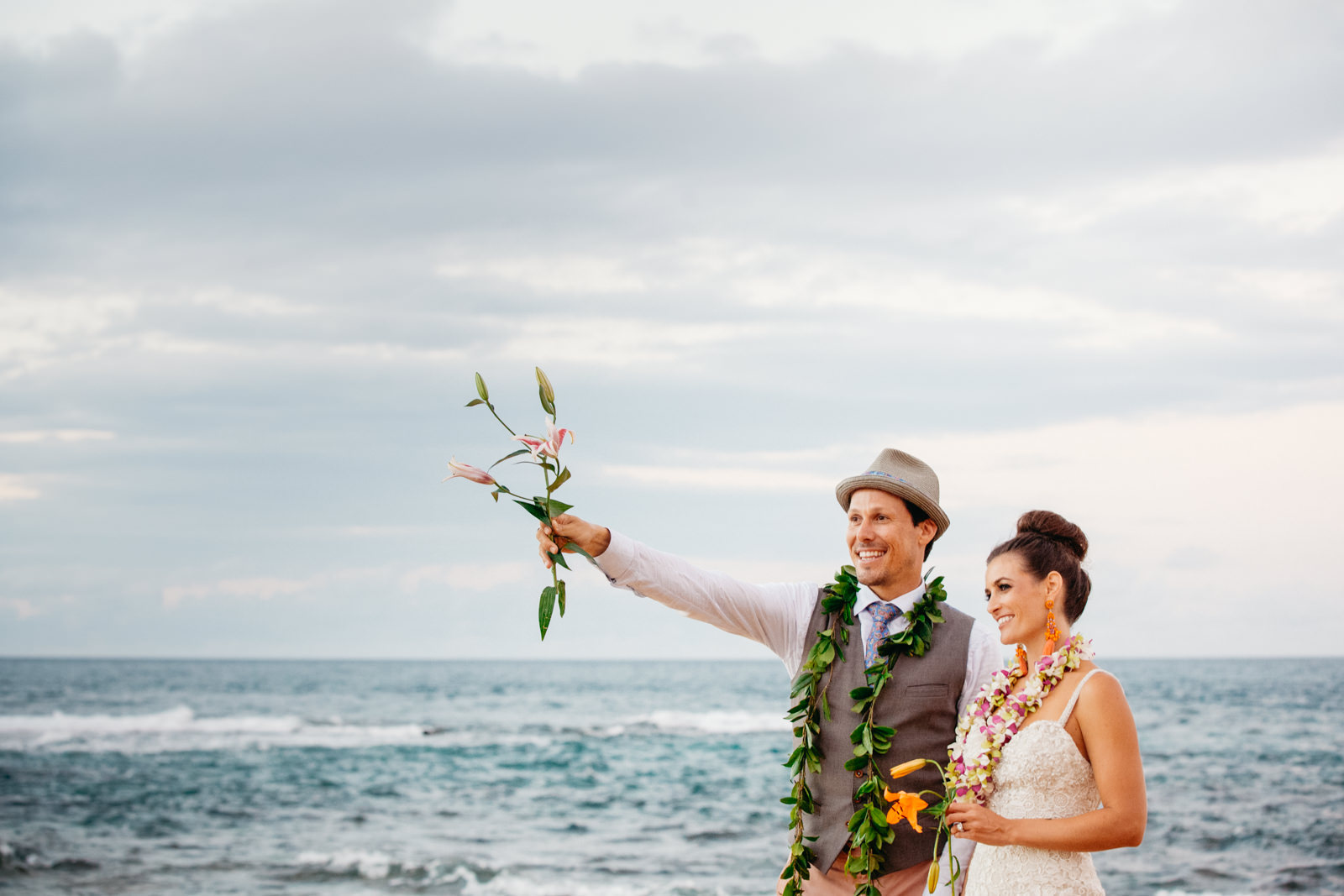Princeville Hanelei Kauai Hawaii Destination Elopement Wedding 46