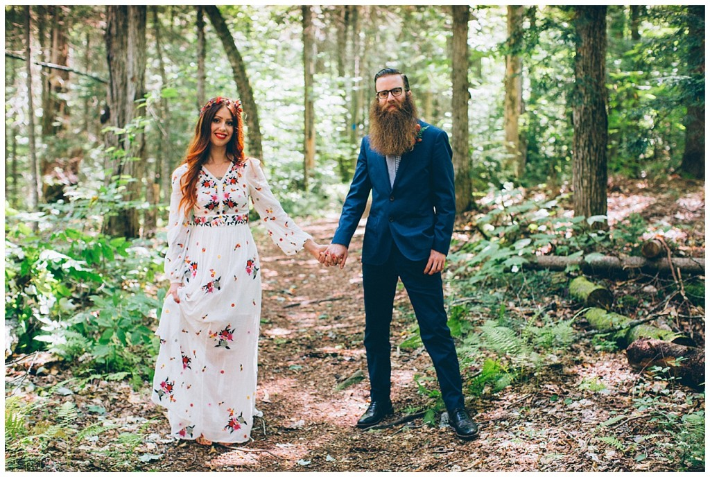 Ashley George Vermonth DIY Backyard Forest Wedding_0015