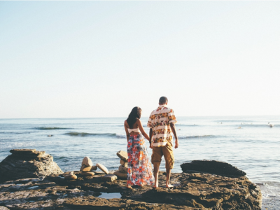Amos + Alona Sunset Cliffs Engagement Shoot