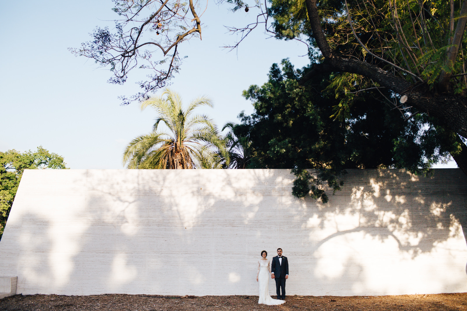 Los Angeles Arboretum Wedding Bride Groom Portraits
