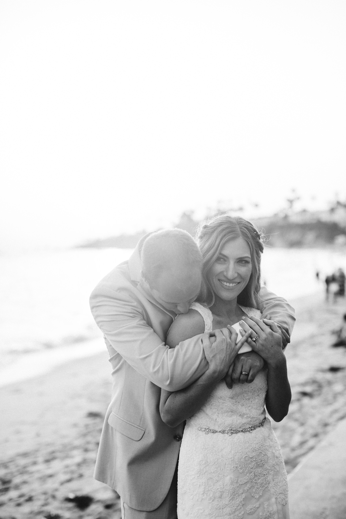 Laguna Beach Wedding Bride Groom Portraits Sunset