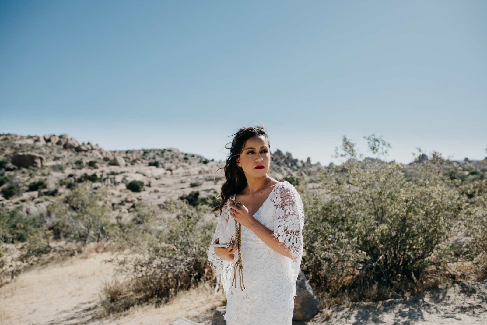 Intimate Joshua Tree Elopement