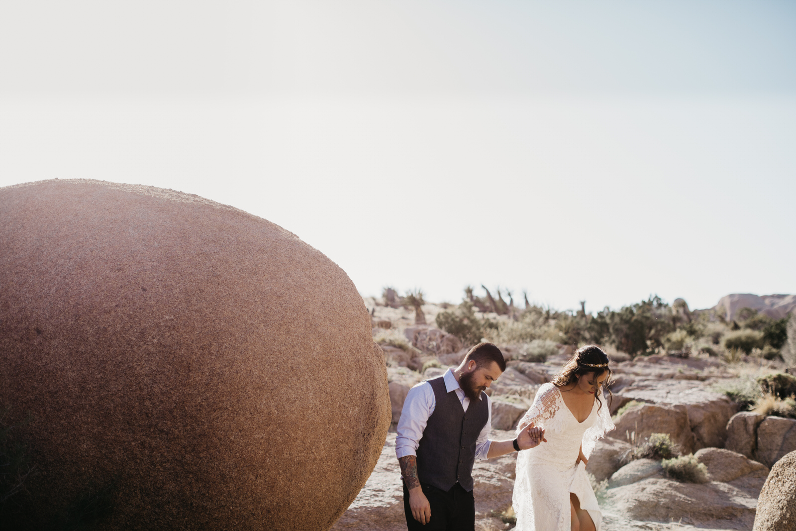Intimate Joshua Tree Elopement Weddin