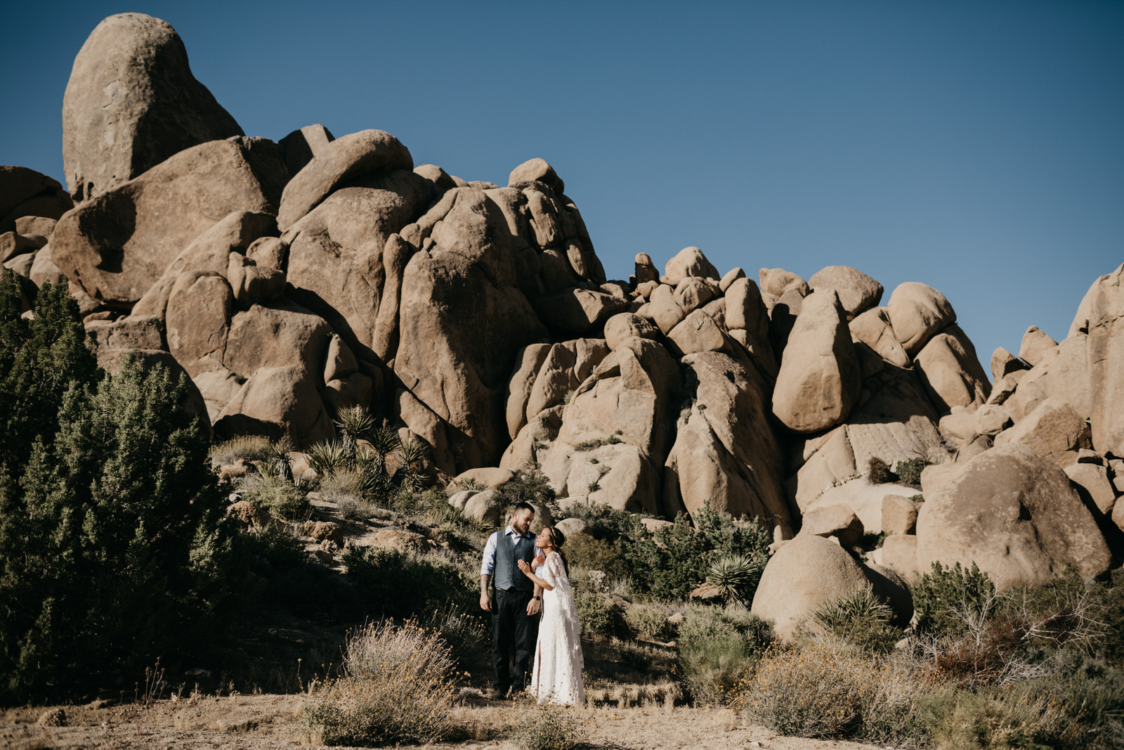 Intimate Joshua Tree Elopement Wedding