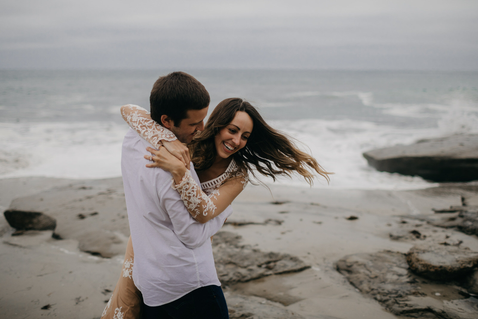 Widnansea Beach Engagement Shoot