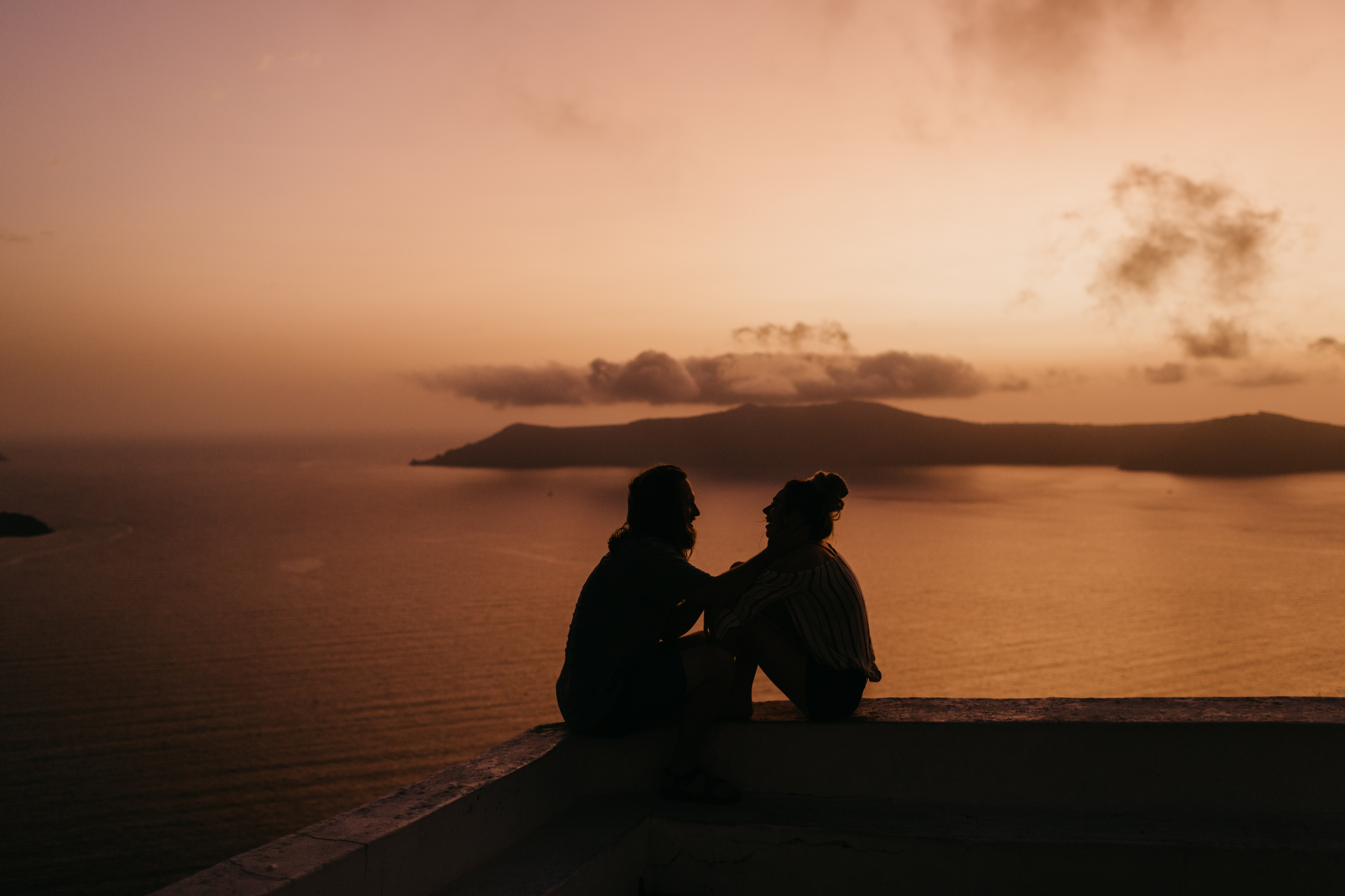 Santorini Cliff, Greece, Destination Wedding Photographer