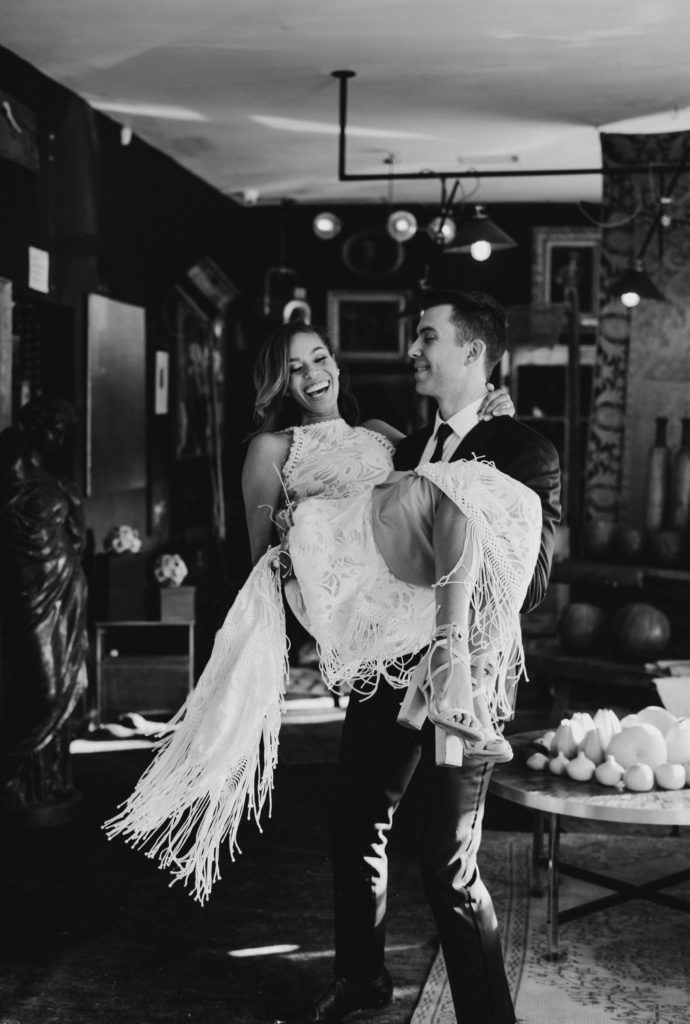 Bride and Groom in Big Daddy's Antiques LA