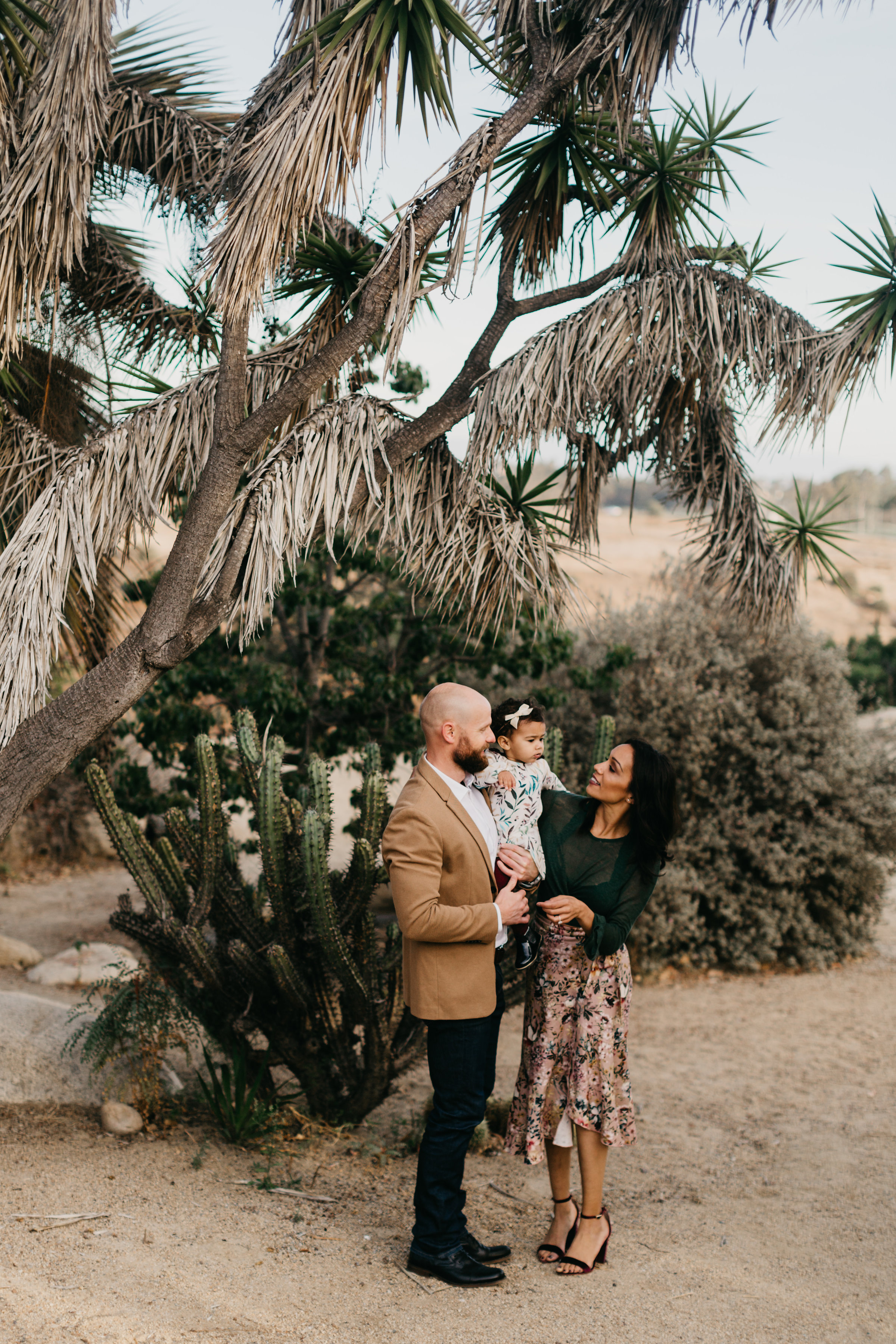 Palm Spring Family Portrait Session in Balboa Park
