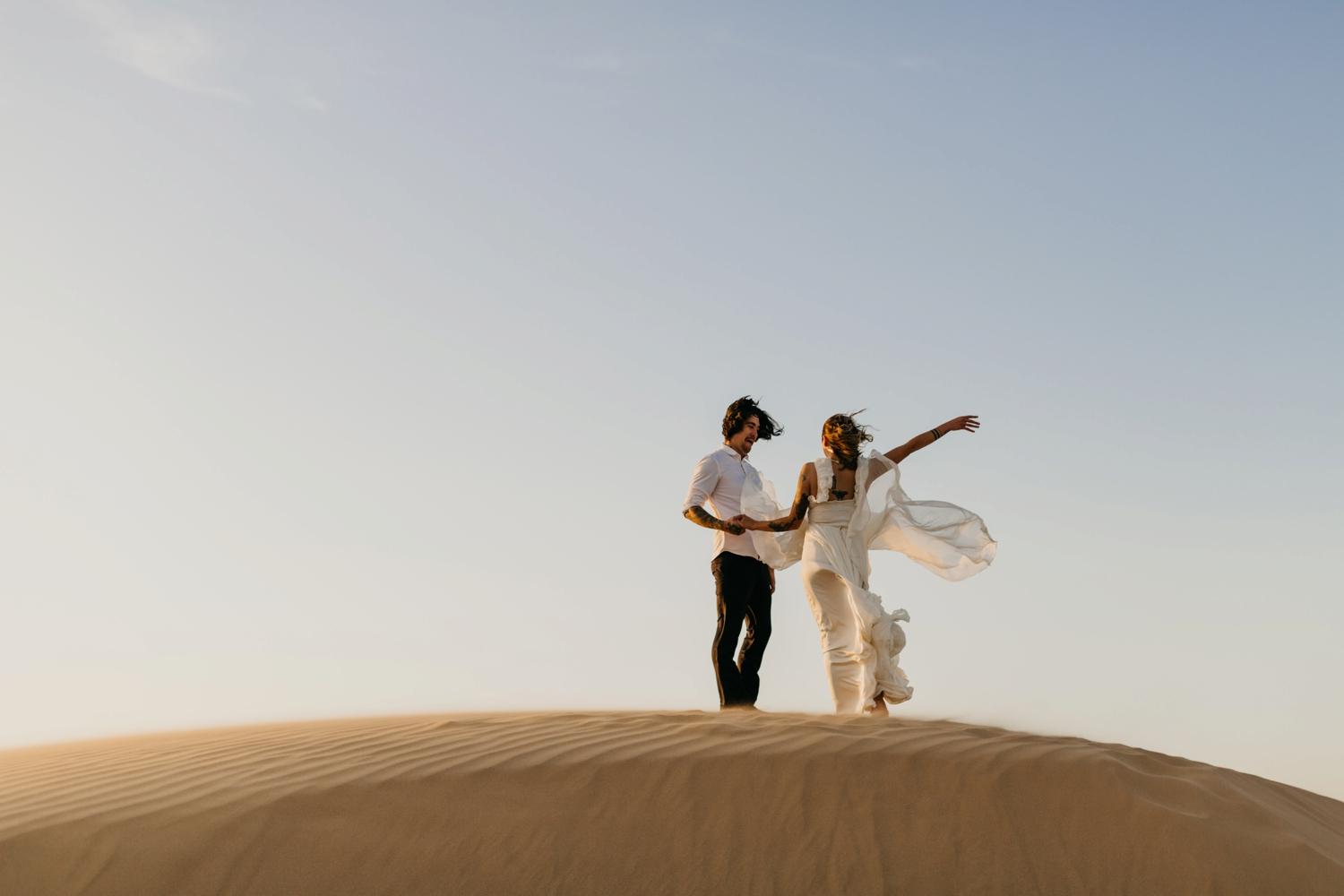 couple eloping in Morocco