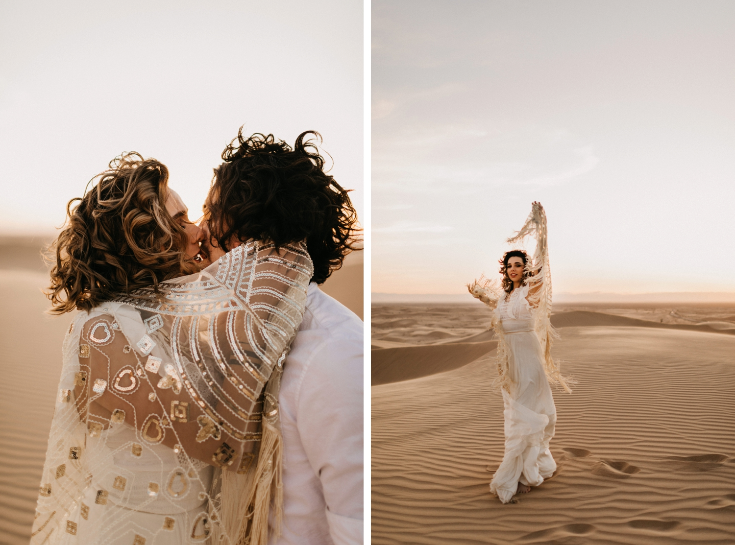 bride and groom in Morocco eloping