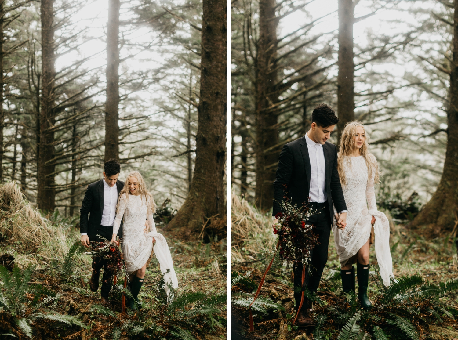 Oregon Coast Cannon Beach Elopement Grace Loves Lace Inca Dress
