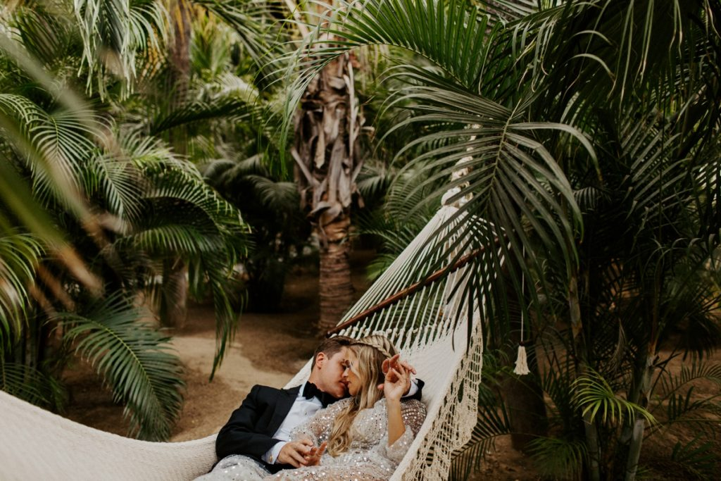 Acre Baja Hammock Wedding Couple