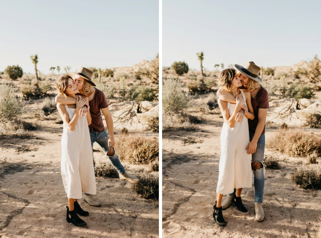 Pioneertown engaged couple