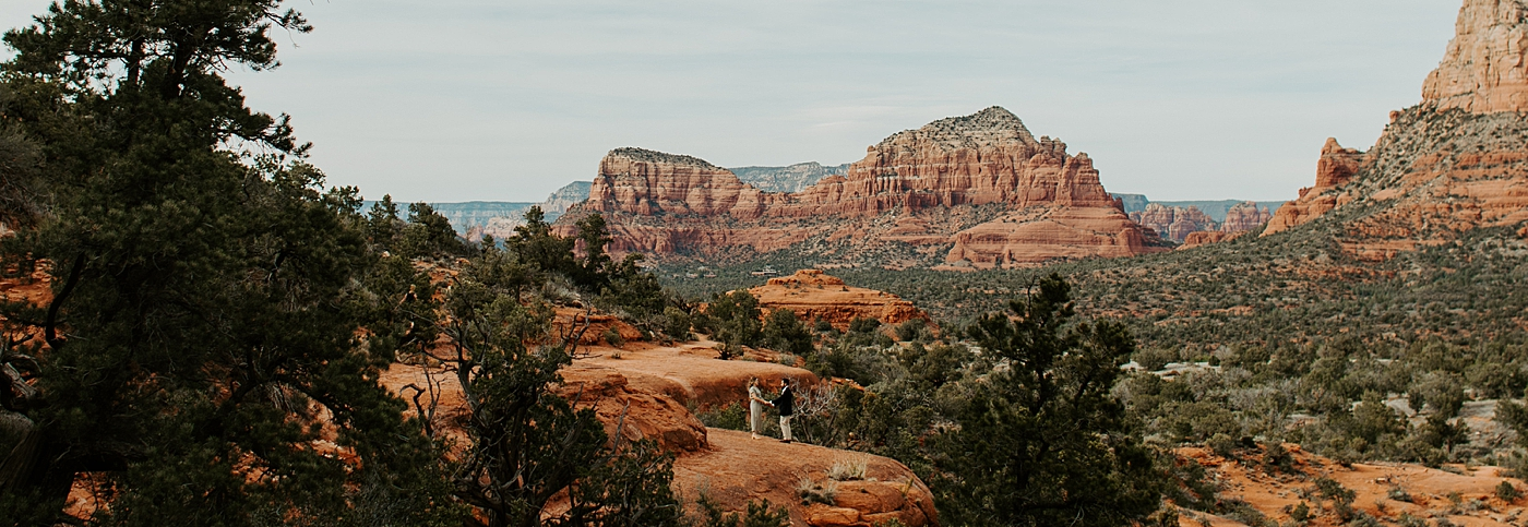 couple with view from bell rock