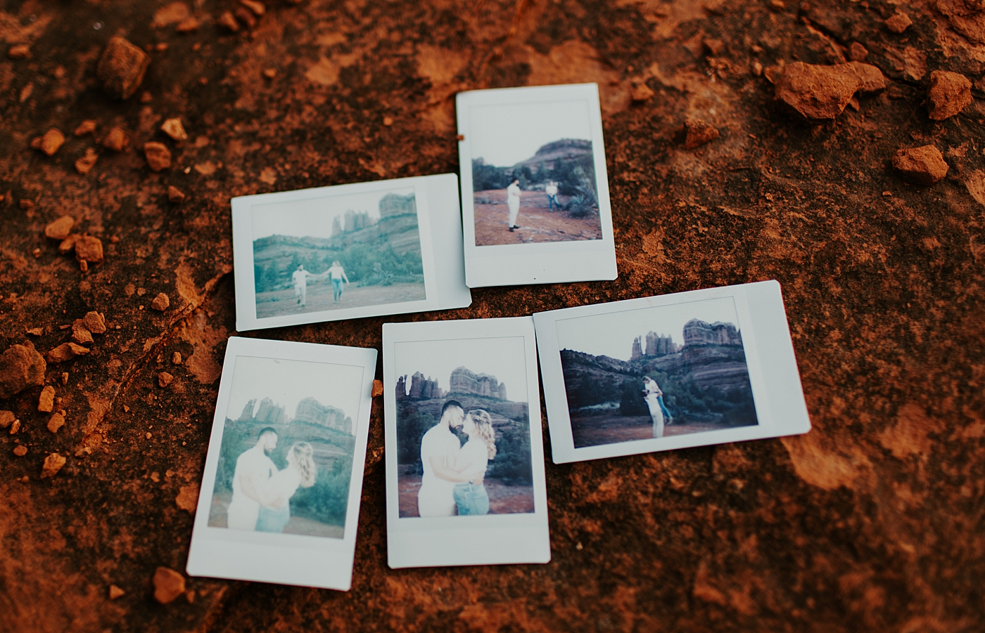 polaroids of cathedral rock Sedona